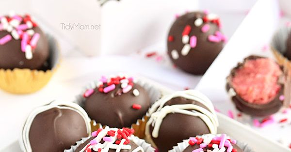 These cake balls have all the delicious flavor of a chocolate covered strawberry. A perfect Valentine treat for your sweethearts, or dessert any time of year.