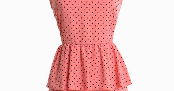 polka dot peplum dress from ruche