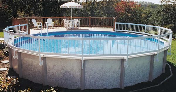 Prefab above ground pool decks aboveground pool safety for Above ground pool vinyl decks
