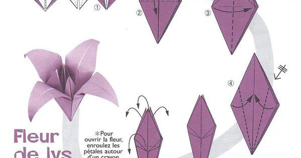 Image origami fleur de lys origami pinterest origami fleur fleur de lys et origami - Origami fleur de lys ...