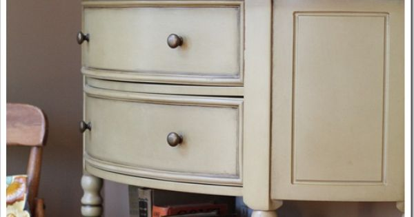 I like the shape of this piece and the old drawer used