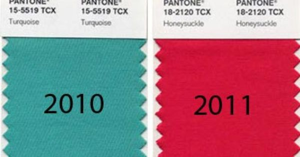The Pantone Color of the Year for 5 years