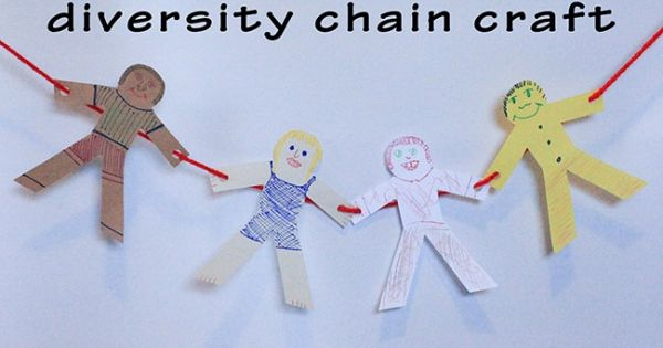 Kids activities black history month diversity chain to for Black history month craft