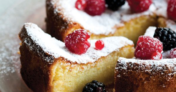 Citrus-Scented Wine Cake with Fresh Berries | Vegetarian Times