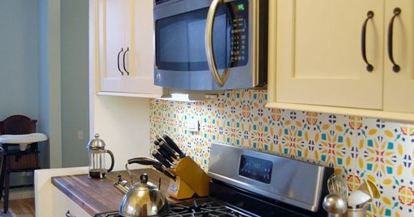 15 ideas for removable diy kitchen backsplashes kitchen updates