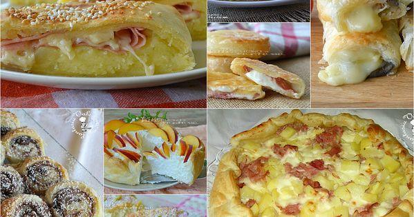 Raccolta di ricette con la pasta sfoglia dolci e salate - Cucina con vale ...