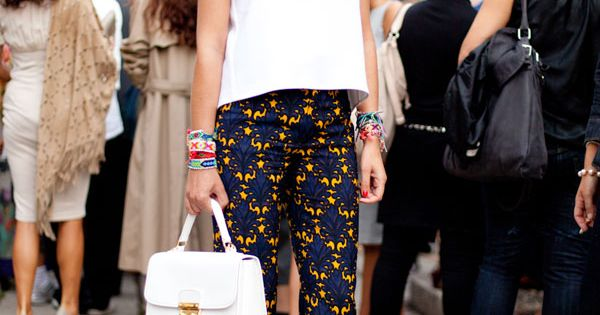 STREET STYLE SPRING 2013: MILAN FW - This woman lets statement pants