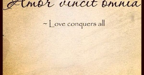 Important love conquers all latin sorry, that