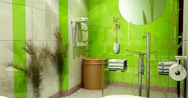 Neon green bathroom ideas bright lime green and white for Lime green bathroom ideas pictures
