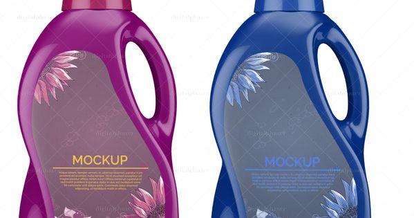 Plastic Laundry Detergent Bottle Mockup Detergente Envases Empaques