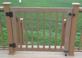 This Customer Had Menards Ultradeck Cedar Railing We Suggested Using Deck Gate Pet Gate Dog Gate