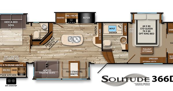 Solitude Fifth Wheel Floor Plans Grand Design Rv Trailer Pinterest Grand Designs Floor