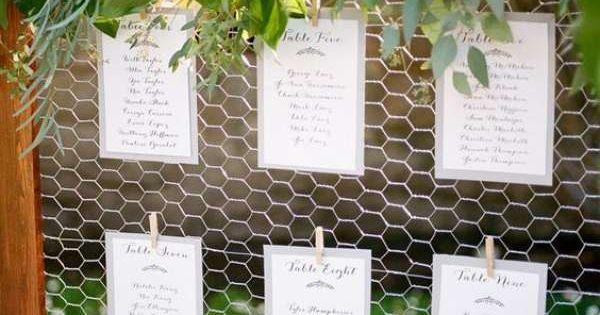 20 r alisations g niales faire avec du grillage poule mariage plan de tables et bricolage. Black Bedroom Furniture Sets. Home Design Ideas