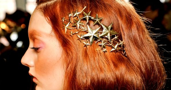 Fabulous hair jewellery.