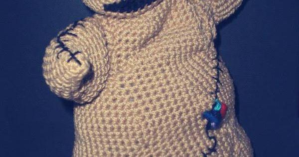 2014 Halloween oogie boogie crochet plush for home decor - crafts Halloween