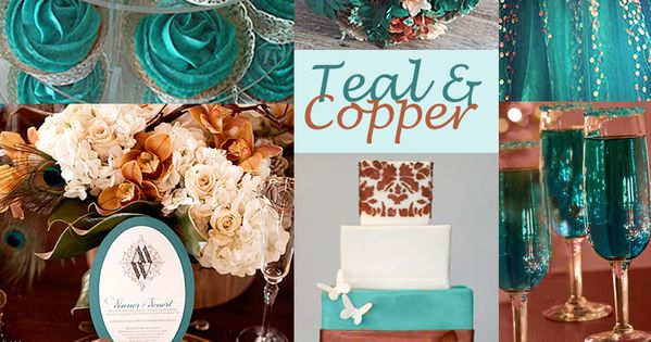 Brown And Teal Wedding Ideas: Teal And Copper Wedding Colors
