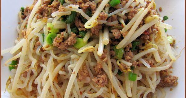 Stir Fried Shirataki Noodles with Spicy Ground Pork