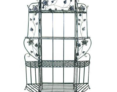Heather Ann Creations Piper 4 Shelf Bakers Rack Bakers Rack