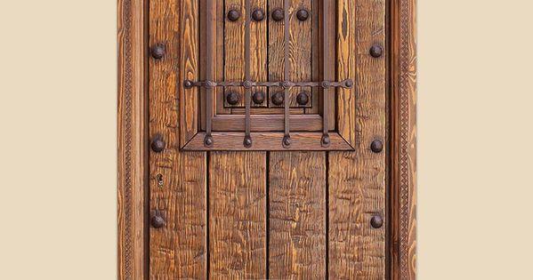 Puertas de exterior serie i gama alcudiar puertas - Puertas rusticas alpujarrenas ...