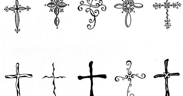 Feminine cross tattoos feminine cross tattoo ideas for Small feminine cross tattoos