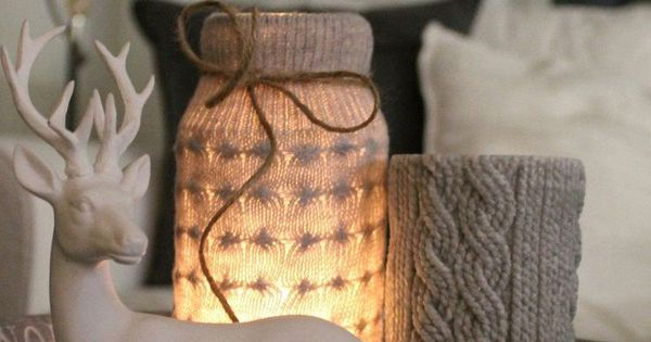 ... avec bocaux en verre personnalisés  Deco, DIY and crafts and Noel