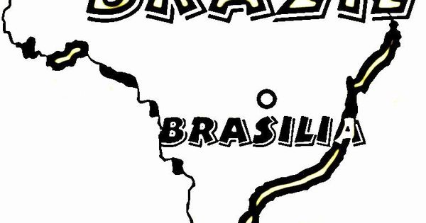 Flag Of Brazil Coloring Page Awesome Map Of Brazil Coloring Page Free Brazil Coloring Pages In 2020 Coloring Pages Free Coloring Pages Brazil Map