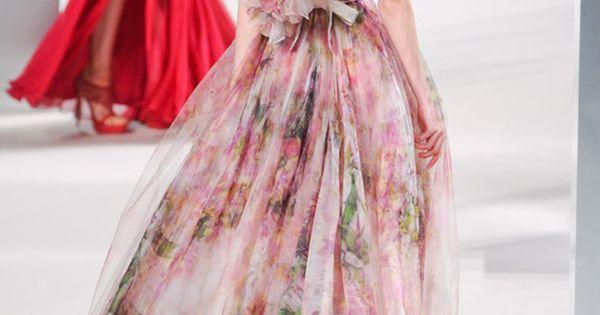 stunning floral gown / Ellie Saab