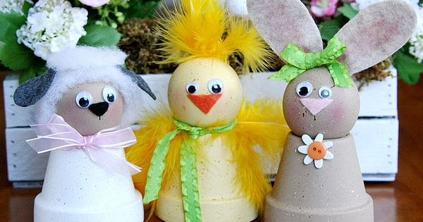 Clay Craft Spring Flowerpot Pals
