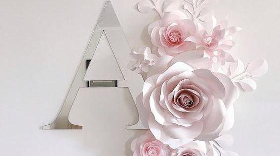 صور حرف A بالانجليزي مجلة رجيم Paper Flower Wall Decor Flower Nursery Paper Flower Wall