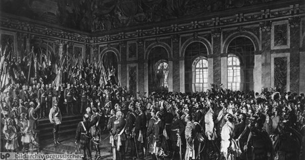 anton von werner the proclamation of the german empire january 18 1871 palace version. Black Bedroom Furniture Sets. Home Design Ideas
