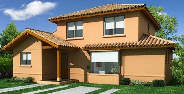 Casas De Dos Pisos De 100 Metros Cuadrados Jpg 596 306