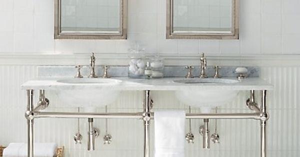 Gramercy Double Metal Washstand Bathroom Sinks I 39 M In: double sink washstand
