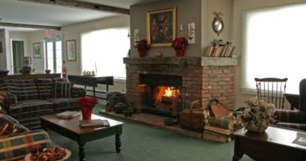 Brick Fireplace At Inn At Mount Snow In West Dover Vermont Home