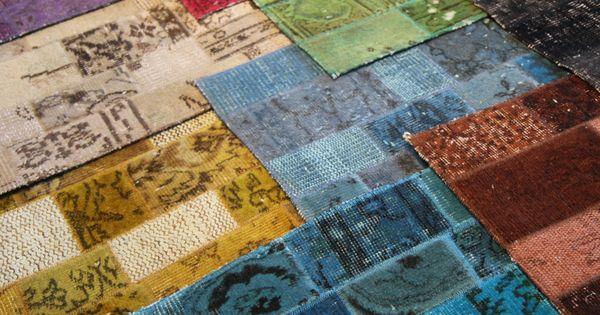 Coloris du tapis orient deco patchwork vintage  Objets & autres ...