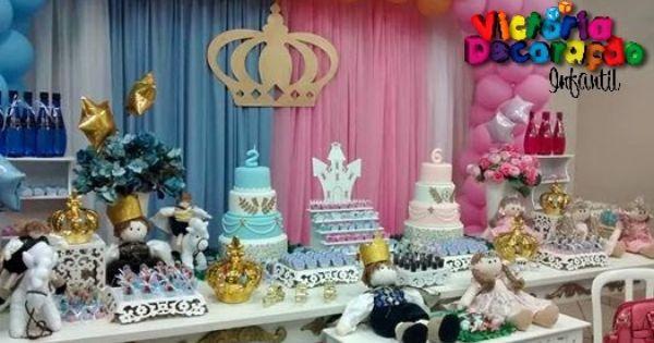 Princesa E Principe Aniversario De Gemeos Princesas E Decoracao