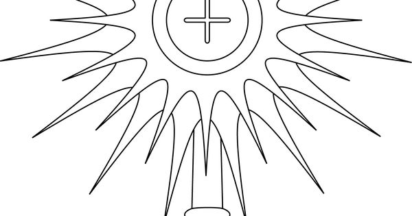 Monstrance Coloring Page Google Search Line Drawings Monstrance Coloring Page