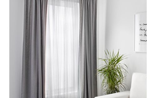 LILL Cortinas red, par, blanco : Sliding doors, Layered curtains and ...