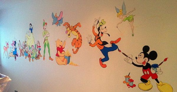 Disney Mickey Mouse Clubhouse and Winnie the Pooh Wall Stickers Decals for Kids Bedroom - Wall Stickers Nursery