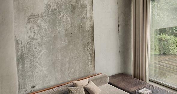 Wall deco tapie wall deco interieur designwebwinkel loft pinterest muur kleuren - Deco grijze muur ...