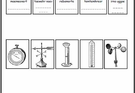 weather tools worksheet hanongaho pinterest worksheets weather and school. Black Bedroom Furniture Sets. Home Design Ideas