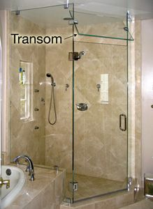 Transom Opening For Steam Showers With Images Glass Shower