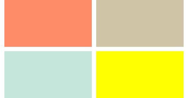 Color Palette For Unisex Gender Neutral Nursery Salmon