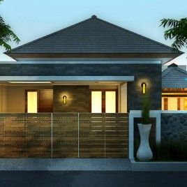 desain rumah modern tropis minimalis 1 lantai - desain