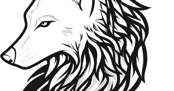 Wolf Line Art Tattoo  Drawing And Coloring For Kids Wolves Other Things Of Beauty