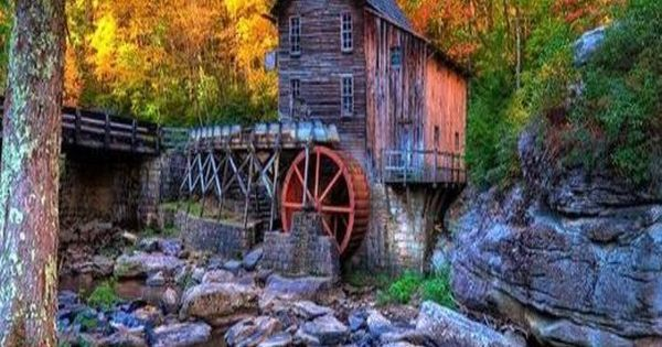 Old Mill: Skyline Trail, Babcock State Park, Danese, W. Va.: Beginning at