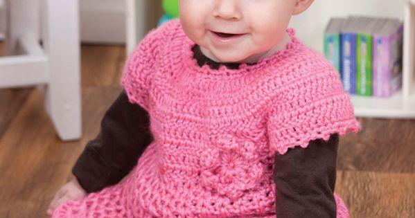 Little Sweetie Dress Free Crochet Pattern Using Red Heart