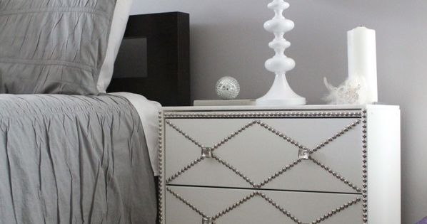 ikea hack | Nailhead & Marble Ikea Rast Hack.