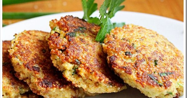 spring herb quinoa patties, kind of like the quinoa burgers i've made