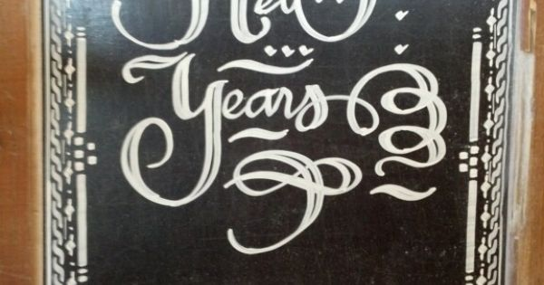 Calligraphy by andrew ventura for thyme cafe and market