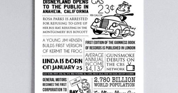 1955 fun facts poster - Google Search
